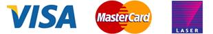 Visa / Mastercard / Laser